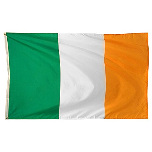 The Irish Flag (DANF Ireland Flag 3x5 Foot Irish National Polyester with Brass Grommets 3 X 5)