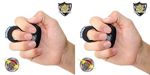 Streetwise Sting Ring 18 Million Volts Stun Gun Bundle Deal - Black -