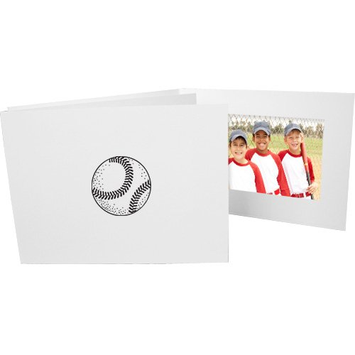 Baseball 4x6 Horizontal Cardboard Event Photo Folders (50 Folders)