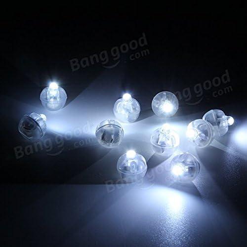 Bazaar 100 Stück weiß Led Lampen Ballon Licht für Papierlaterne Hochzeitsfest Dekoration