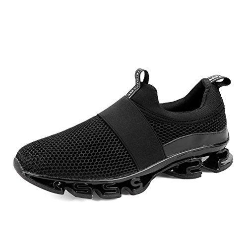 Dannto Men Trasiners Walking Running Athletic Sports Sneakers Fashion Casual Breathble Mesh Durable Portability Non-Slip Lightweight Outdoor Shoes Black
