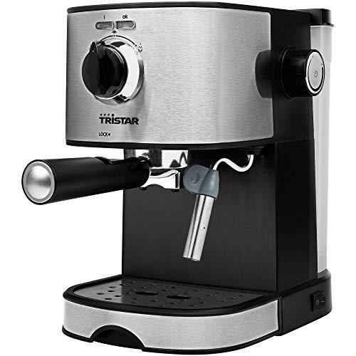 Tristar CM-2275 Cafetera Espresso, Acero Inoxidable, Negro