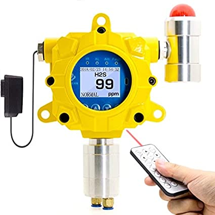Hydrogen Sulfide H2S Fixed Gas Detector by Forensics | Industrial Grade | Continuous Monitoring | Remote