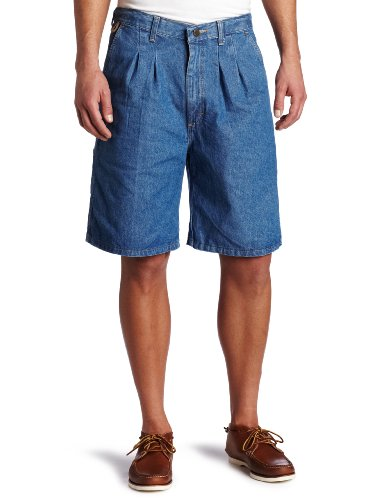 Wrangler Men's Big Rugged Wear Angler Short ,Indigo, 46 (Big And Tall Relaxed Fit Shorts)