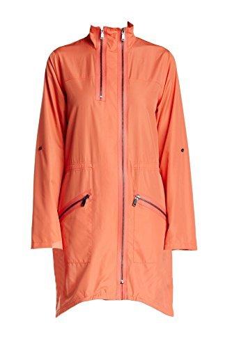 Elie Tahari Molly Orange Trench Coat - Elie Tahari Womens Skirt