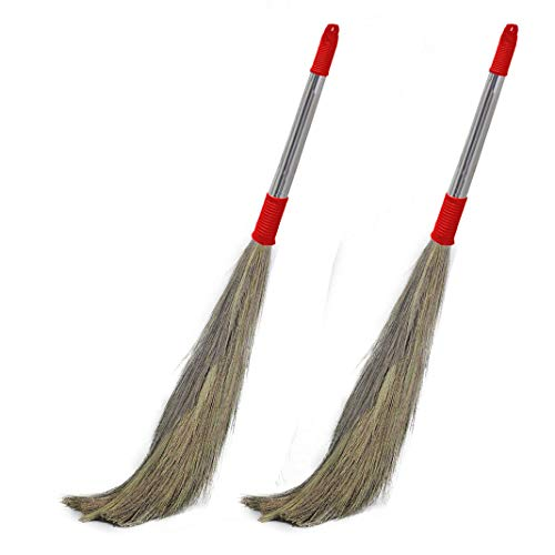 Signamio Stainless Steel Stella Eco Friendly Soft Grass Floor Broom Stick (Multicolour) -2 Pcs Price & Reviews