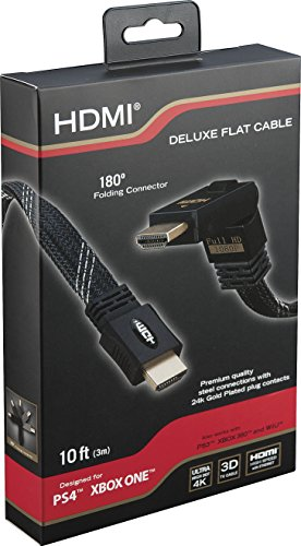 RDS Industries Deluxe Flat HDMI Cable for Xbox One and Playstation 4 (Discontinued by Manufacturer)