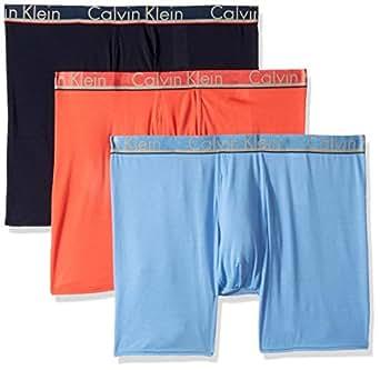 Calvin Klein Men's Underwear Comfort Microfiber Boxer Briefs, Provence/Shoreline/Cayenne, S