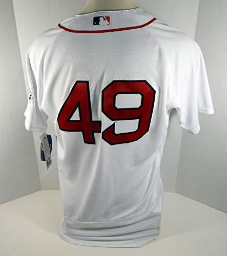 Boston Red Sox Tim Wakefield #49 Replica White HOF Jersey - Game Used MLB Jerseys