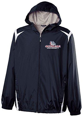 Ouray Sportswear NCAA Gonzaga Bulldogs Youth Collision Jacket, Medium, Navy/White ()