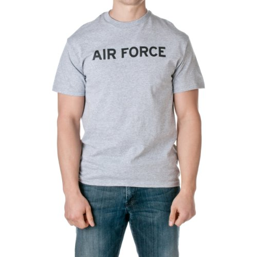 US Air Force Men's Officially Licensed Short Sleeve T-Shirt, Heather Gray, Size Large
