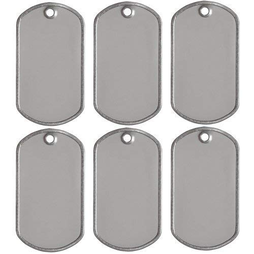25 Blank Military Style Dog Tags by Tags and Knobs