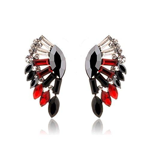 [Mr Rabbit Fashion Jewelry Diamante Wings of an Angel Shapped Earrings] (Light Up Angel Wings)