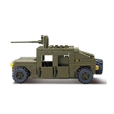 Sluban M38-B0297 175 bricks Hummer squad car Building Block Set 100% Lego compatible: Toys & Games