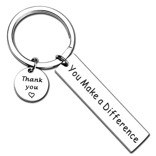 Volunteer Thank You Gifts (ecobuty You Make A Difference Keychain Thank You Gift for Volunteer Mentor Employee Gift (Difference)