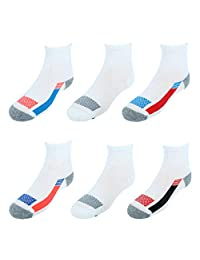 Hanes Boys X-Temp Active Cool Ankle Socks 6-Pack
