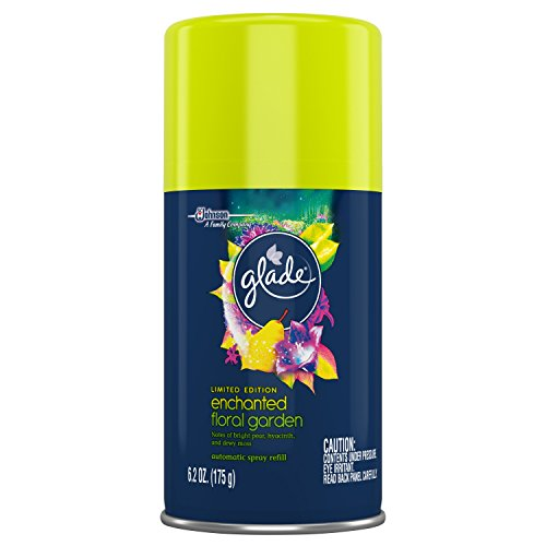 Garden Air Freshener (Glade Automatic Spray Air Freshener Refill, Enchanted Floral Garden, 6.2 Ounce)