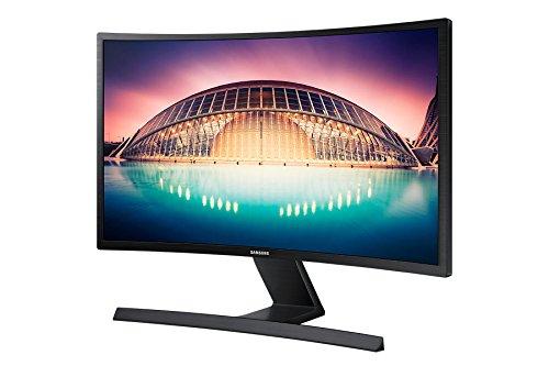 Samsung S24E500C 59,94 cm (24 Zoll) Curved Monitor (VGA, HDMI, 4ms Reaktionszeit, 60Hz, 1920 x 1080 Pixel) schwarz-glänzend
