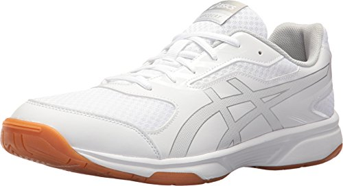 ASICS Men's Gel-Upcourt 2 Volleyball Shoe - White/Silver, 10.5