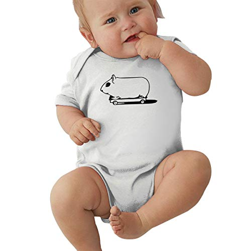 Skateboarding Guinea Pig Baby Clothes Newborn Boys Girls Short-Sleeve Romper Bodysuit Jumpsuit -