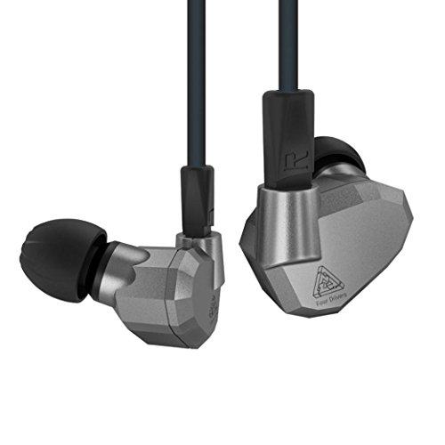 YRD Tech KZ ZS5 Double Hybrid Dynamic and Balanced Armature Sport Earphone No Mic (Gray) by YRD TECH