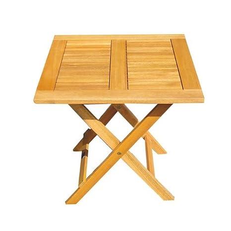 Tavolo Giardino Legno Richiudibile.Tavolino Quadrato Pieghevole In Legno Per Esterni Giardino Mod Mini