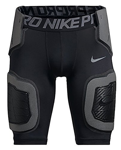 NIKE PRO HYPERSTRONG CORE BIG KIDS (BOYS) FOOTBALL SHORTS,Black / Grey,XL (18-20 Big Kids)