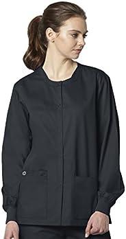 WONDERWINK Womens Snap Front Jacket Medical Scrubs Jacket