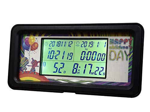 Searon Day Countdown Calendar Clock Timer Calendar Count Up with Calendar Digital Backlight 1,999 Days for Retirement Wedding New Baby Birth Event Vacation Project Christmas New Year