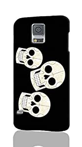 3D Rough Case, three skulls - Samsung Galaxy S5 Case, Customized Hard Unique back Cover Case for Samsung Galaxy S5 i9600 Case
