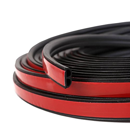 Loobani Self Adhesive Automotive Rubber Seal Strip Weatherstrip for Car Window Door Engine Cover( B Shape, 5M ) Truck Door Sill