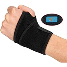HiRui [2 PACK] Wrist Compression Strap and Wrist Brace Wrist Support for Fitness, Weightlifting, Tendonitis, Carpal Tunnel Arthritis, Pain Relief - Wear Anywhere - Unisex, One Size Adjustable (Black)