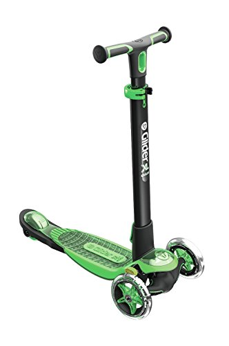 Three Wheeled Scooter Kids (Yvolution Y Glider XL Deluxe | 3 Wheeled Scooter for Boys and Girls Age 3 - 8 Years | Extra-Wide Deck Green)