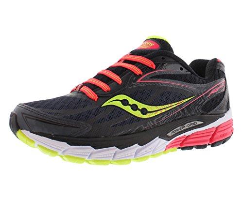 Saucony Women's Ride 8 Running Shoe, Mid/Coral/Citron, 8 M US