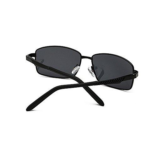 de y de borde con de de UV Gafas magnesio aluminio Retro deportivas para viajar Gafas Gafas Protección de metálico de polarizadas sol retro Chasis sol metal conducción Correr Negro Gafas de sol Béisbol sol pYngWU5q