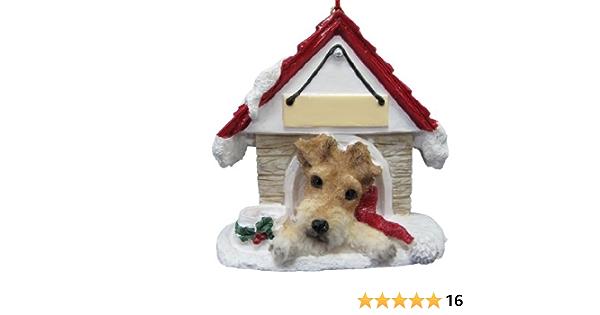 Cute Pet Ornament Custom Pet Ornament WIRE FOX TERRIER Ornament Handmade Ornaments Poly Resin Ornament Dog Room D\u00e9cor