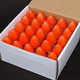Pack of 25 7-Watt C9 Incandescent, Ceramic Orange, Intermediate (E17) Base, Patio, Party, Christmas Light Bulb