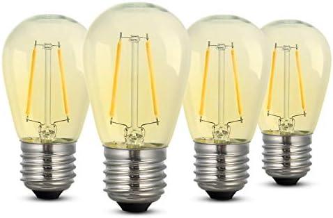 Bombillas LED, iEGrow E27 Bombillas de Edison con luz blanca 2700K 2 W 200 lm, Bombilla retro ST45, No regulable - 4 piezas