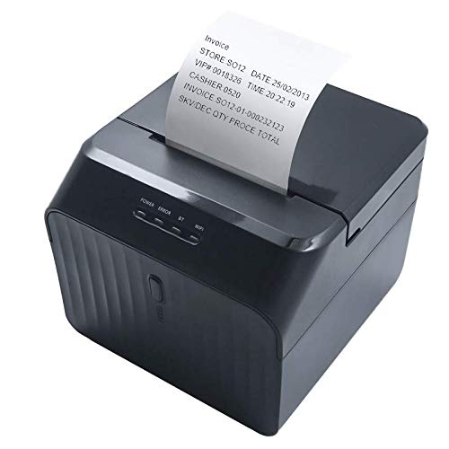 USB Bluetooth Receipt Printer 58mm Mini Bill Printer with High Speed Printing Compatible with ESC/POS Print Commands Set, Easy to Setup and Operate