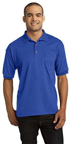 Gildan Mens DryBlend 6-Ounce Jersey Knit Sport Shirt with Pocket, 2XL, Royal