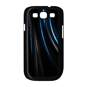 Colorful Stripes Samsung Galaxy S3 9300 Cell Phone Case Black JR5251703