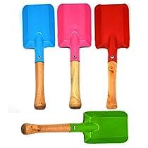 KidsGarden Tools 4-Piece Shovel Set, Annymall Metal with Sturdy Wooden Handle Safe Gardening Tools Trowel Shovel for Children Kids ((Multi, 8))