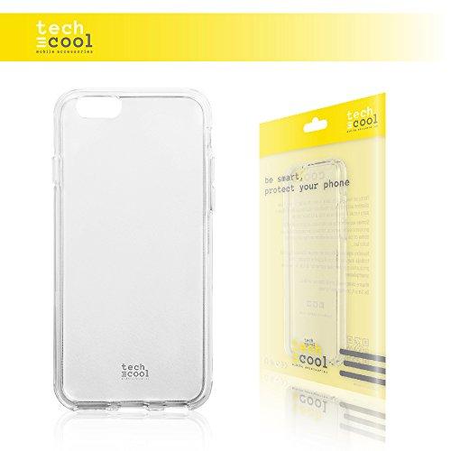 Iphone 6 / Iphone 6S Hülle, Techcool® SchutzHülle premium Soft Flex TPU Silikon Transparent für Iphone 6 / Iphone 6S l Case, Cover, Handy [Ultra Dünn 1,5mm] [Kratzfest] (Klar)
