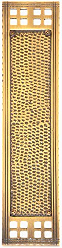 Baltimore Hardware - Arts & Crafts Push Plate 2-1/2'' x 11-1/4'' Polished Brass - A05-P5350-605