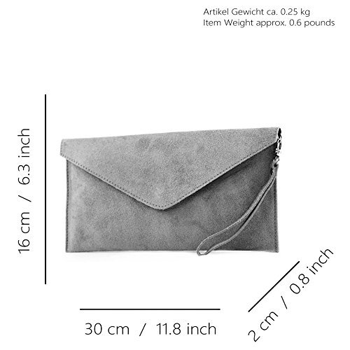 bag modamoda ital Underarm Wild T106 de Shoulder bag Clutch bag leather Wrist Evening bag Chocolate handcuffs bag Leather ggqzwr
