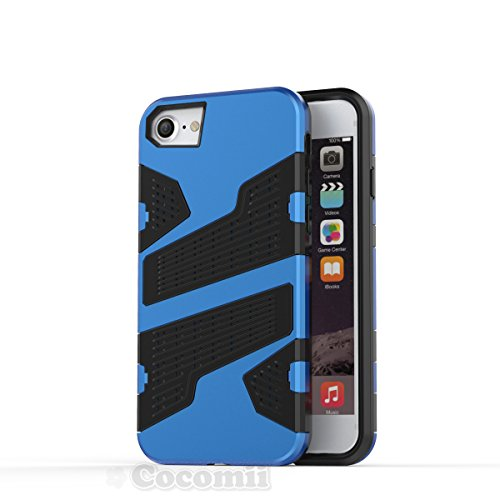 Cocomii Deadpool Armor iPhone 8/iPhone 7 Case New [Heavy Duty] Premium Tactical Grip Slim Fit Shockproof Bumper [Military Defender] Full Body Rugged Cover for Apple iPhone 8/iPhone 7 (D.Blue)]()