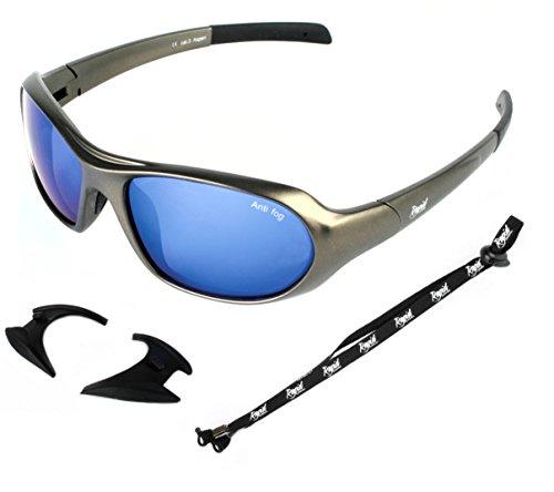 Rapid Eyewear Aspen Lunettes DE Soleil DE Sports EXTRÊMES pour Le Ski, Snowboard et l'escalade sur Glacier. avec Verre Bleu. Masque de Neige pour Hommes et Femmes. uv400