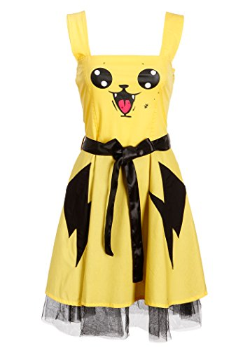[Womens Cupcake Cult Splash Dress Halloween Costume – Size X-Large] (Pikachu Costumes Women)