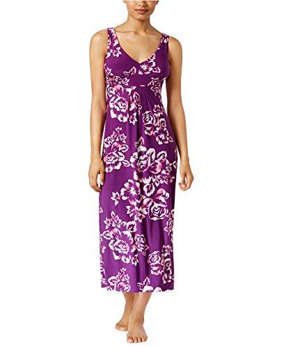 Alfani Women's Floral-Print V-Neck Sleeveless Maxi Nightgown (Washed Floral, (Alfani Sleeveless)