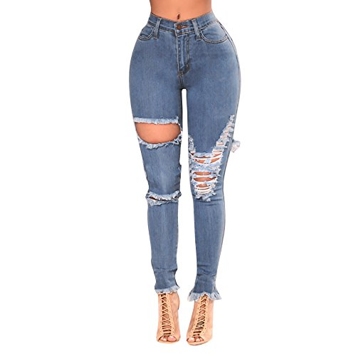 Kehen Womens Destroyed Ripped Distressed Skinny Jeans ...